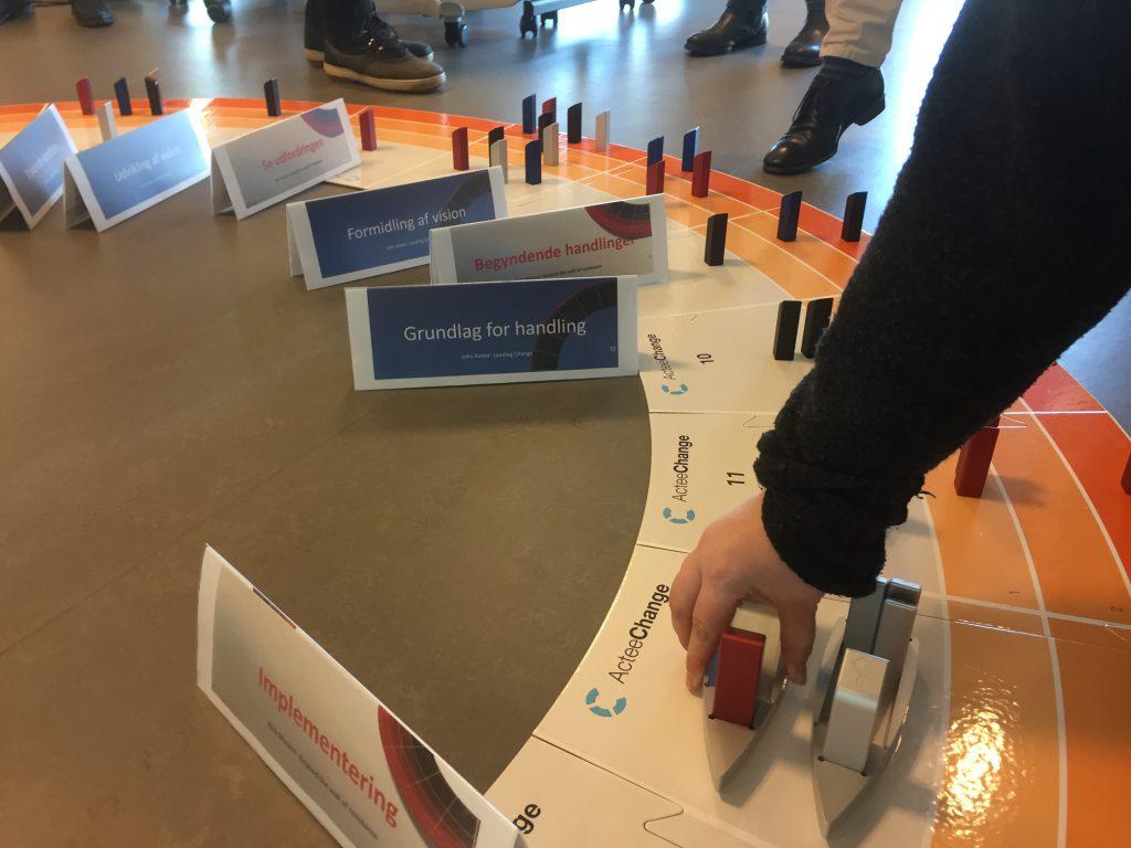Vi bruger aktivt gamification og ledelsessimuleringer i undervisningen - her med ActeeChange
